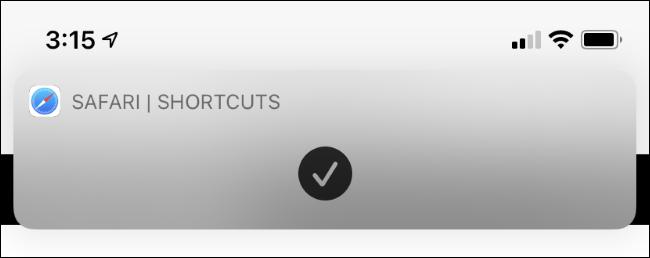 iphone launch safari from shortcut banner
