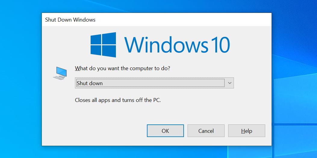 خاموش کردن کامپیوتر