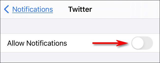 بستن نوتیفکیشن توییتر