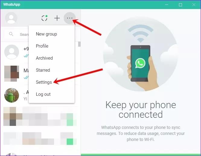 تنظیم اعلانهای واتساپ تحت وب