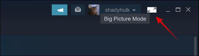 Big Picture Mode Button in Steam