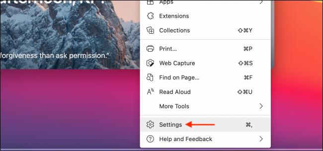 Click Settings from Menu in Microsoft Edge 2