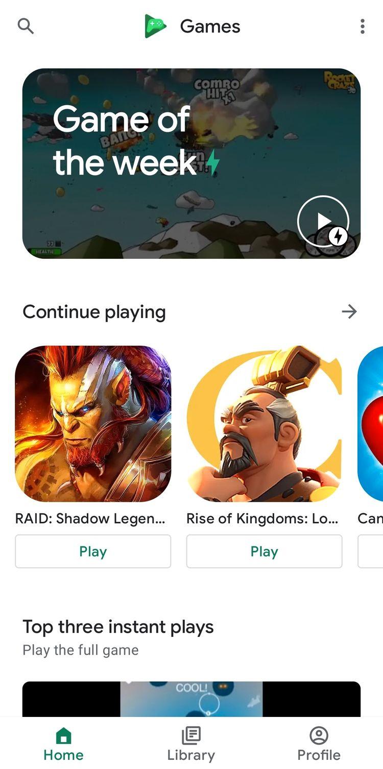 5 گیم لانچر برتر: رتبه اول - بازیهای گوگل (Google Play Games) -3