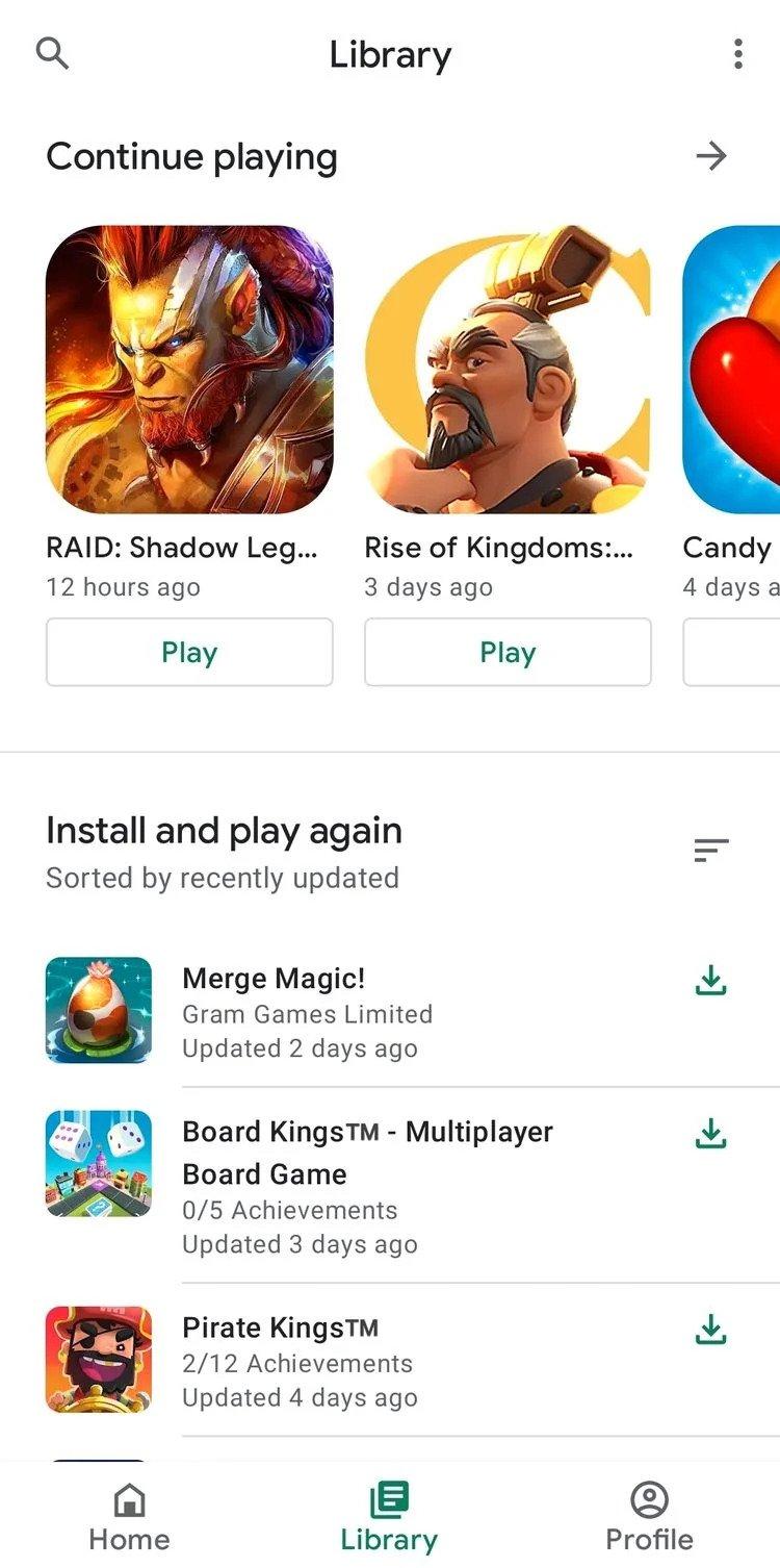 5 گیم لانچر برتر: رتبه اول - بازیهای گوگل (Google Play Games) -1