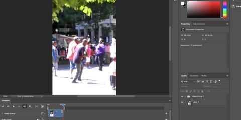 Photoshop crop video