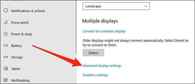 تنظیمات پیشرفته نمایشگر