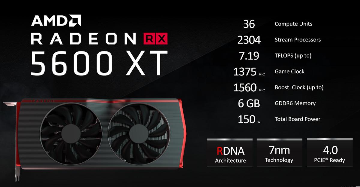 کارت گرافیک ای ام دی Radeon RX 5600 XT