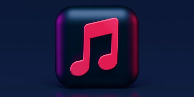 apple music 3d logo unsplash