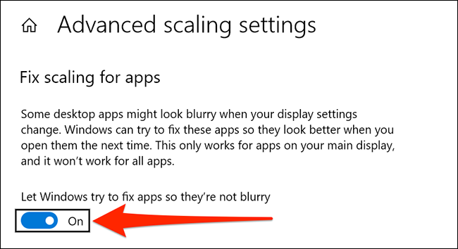 automatically fix blurry apps