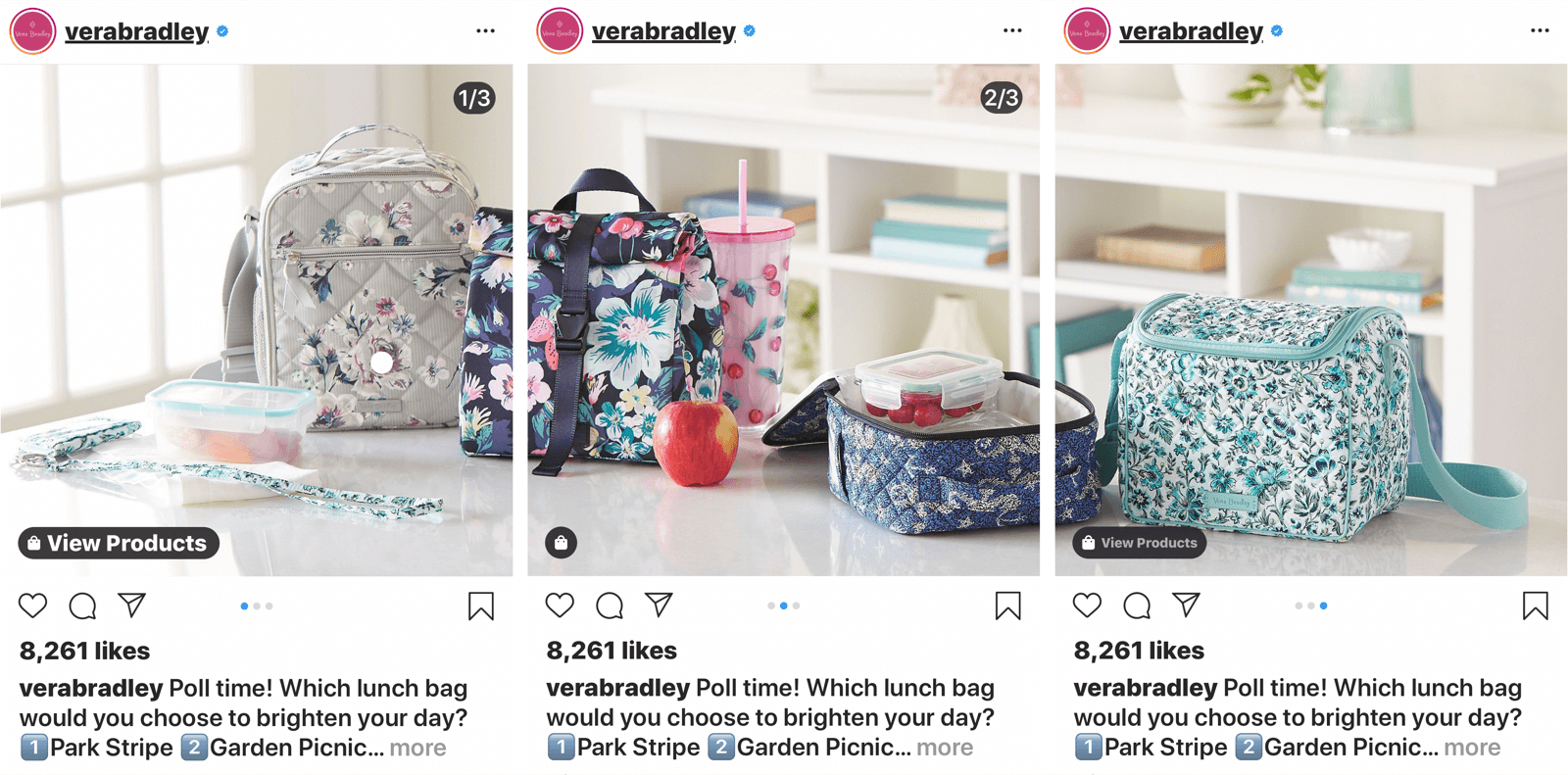 instagram carousel post with 3 images