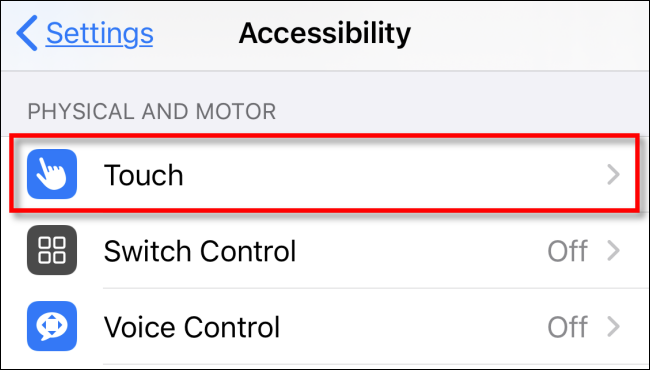 iphone tap touch