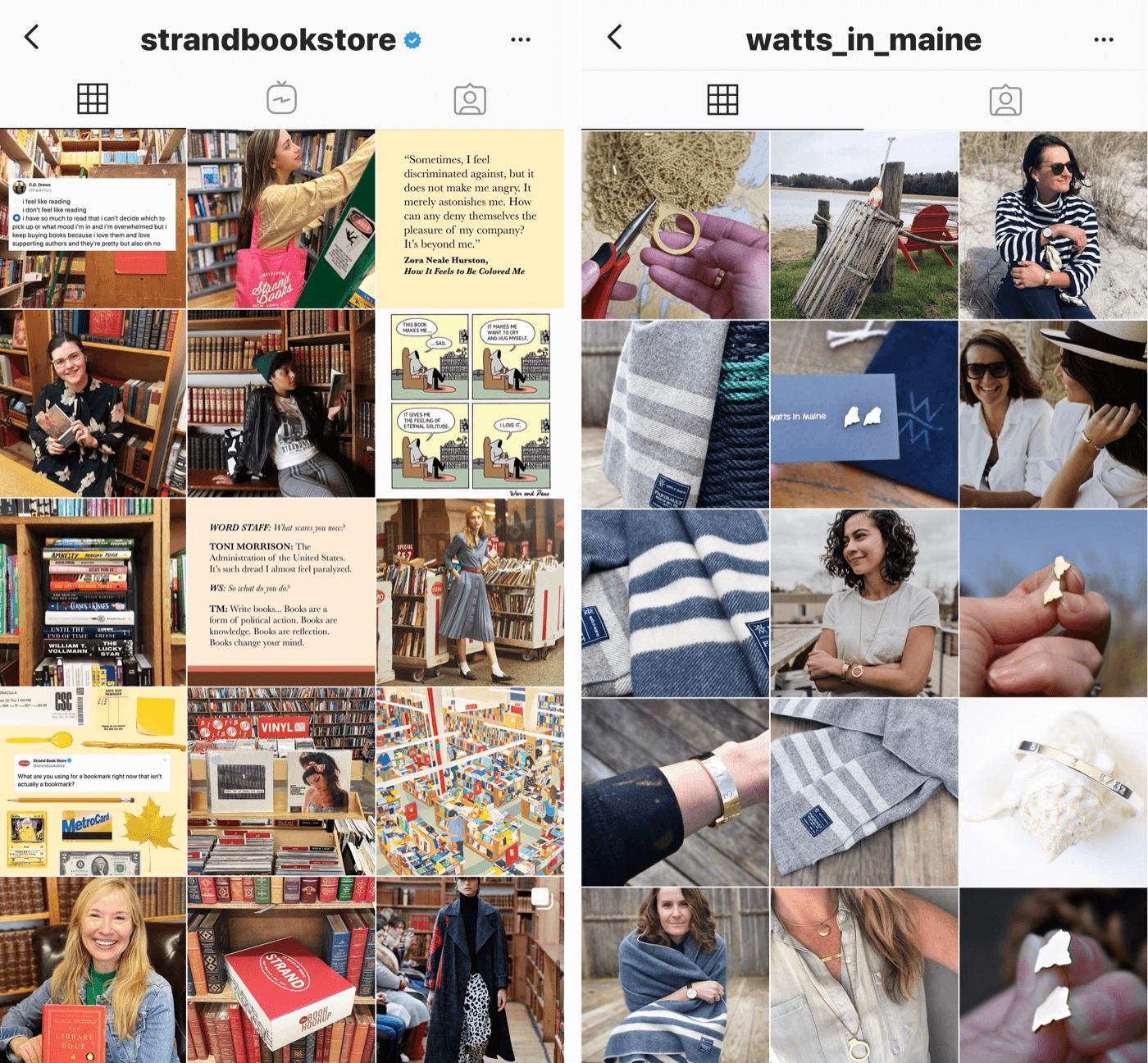 multiple instagram feed posts with same filter
