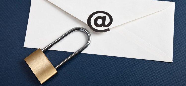 padlock on envelope