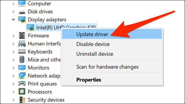 update graphics drivers
