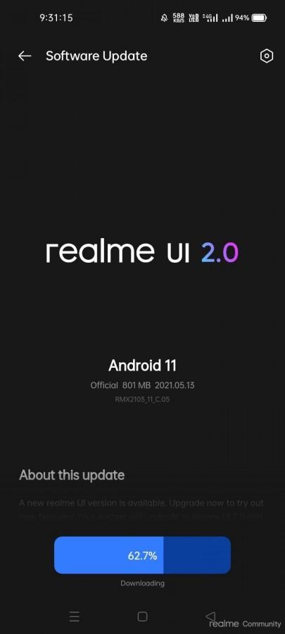 آپدیت نسخه پایدار Realme UI 2.0 برای گوشی Realme 7i منتشر شد