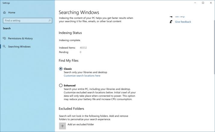 ارتقای جستجوی ویندوز
