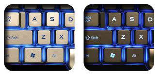 دکمه های صفحه کلید Saitek Truview با نورپردازی زمینه