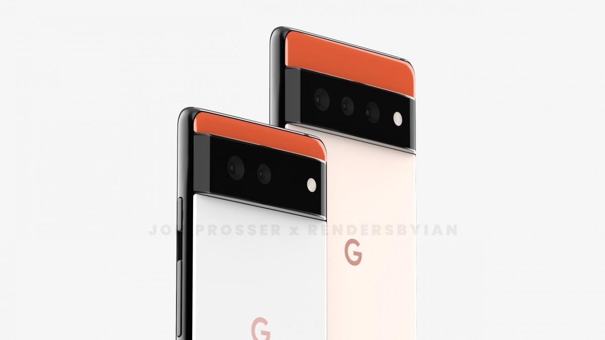 تصاویر گوشیهای پیکسل 6 و 6 پرو طراحی کاملا متفاوت و جدیدی را نشان میدهند