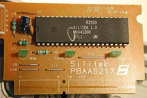 مدار کنترلر و میکروپردازنده داخل صفحه کلید