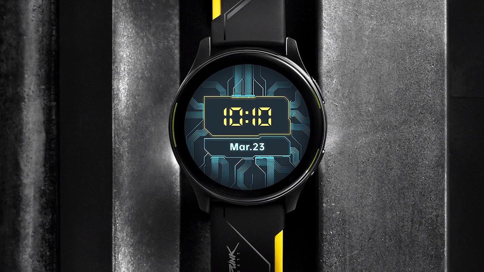 مدل سایبرپانک 2077 ساعت هوشمند وان پلاس واچ در راه است