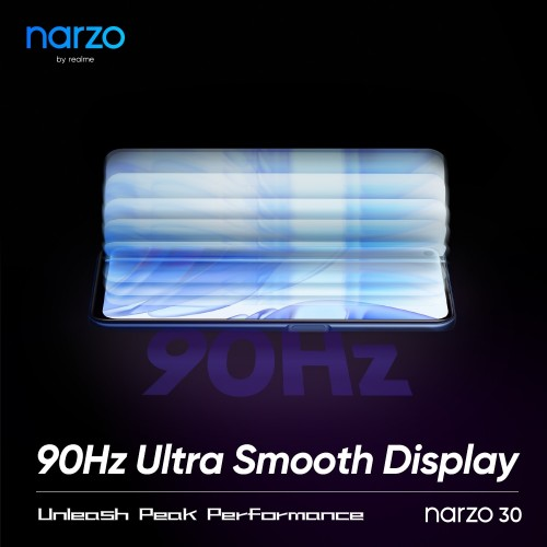 گوشی Narzo 30 ریلمی یک نمایشگر با نرخ تازهسازی تصویر 90 هرتز خواهد داشت