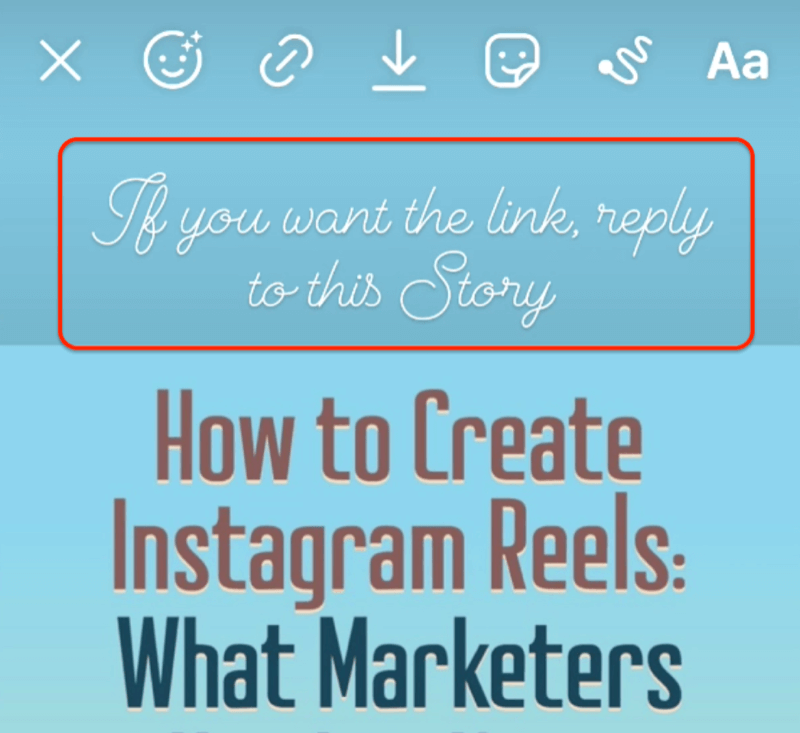 add cta to reply to instagram story