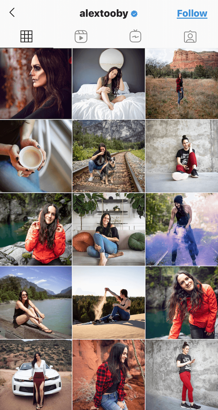 instagram grid featuring images of people