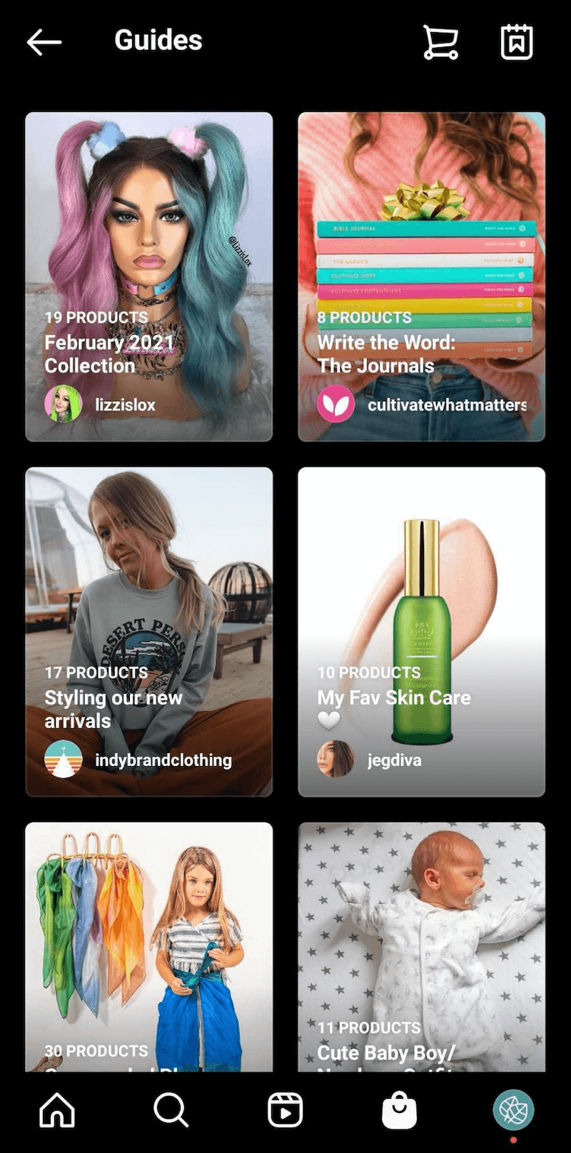 instagram guides on explore tab