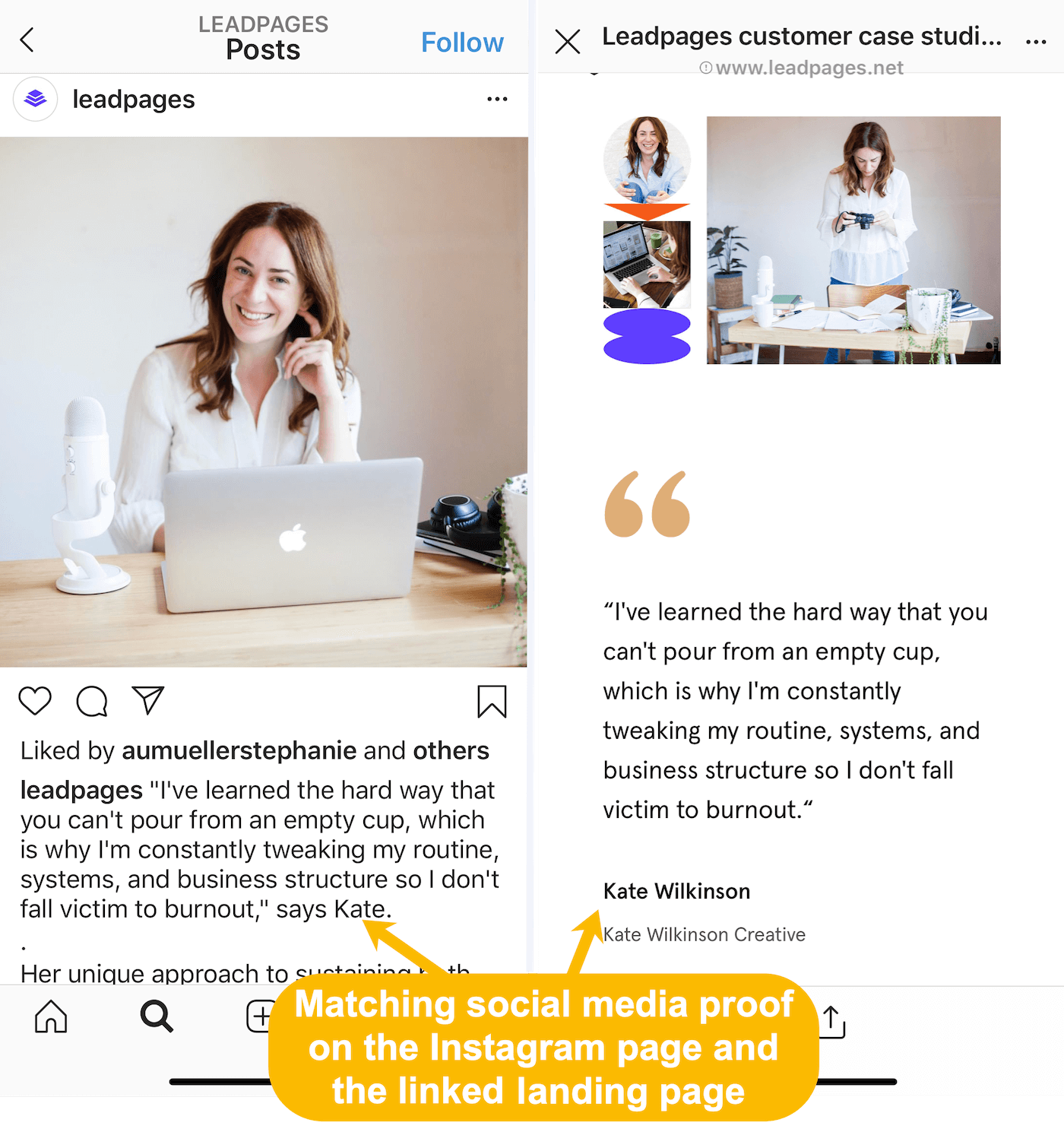 instagram post and landing page congruency 700@2x 3