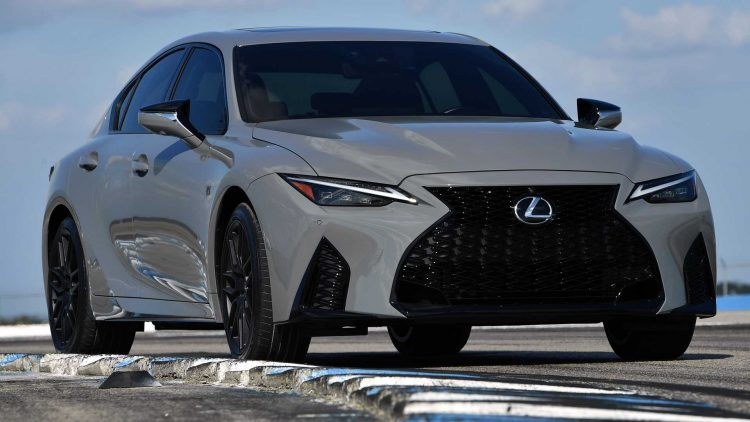 lexus is 500 f sport performance launch edition on track three quarters side