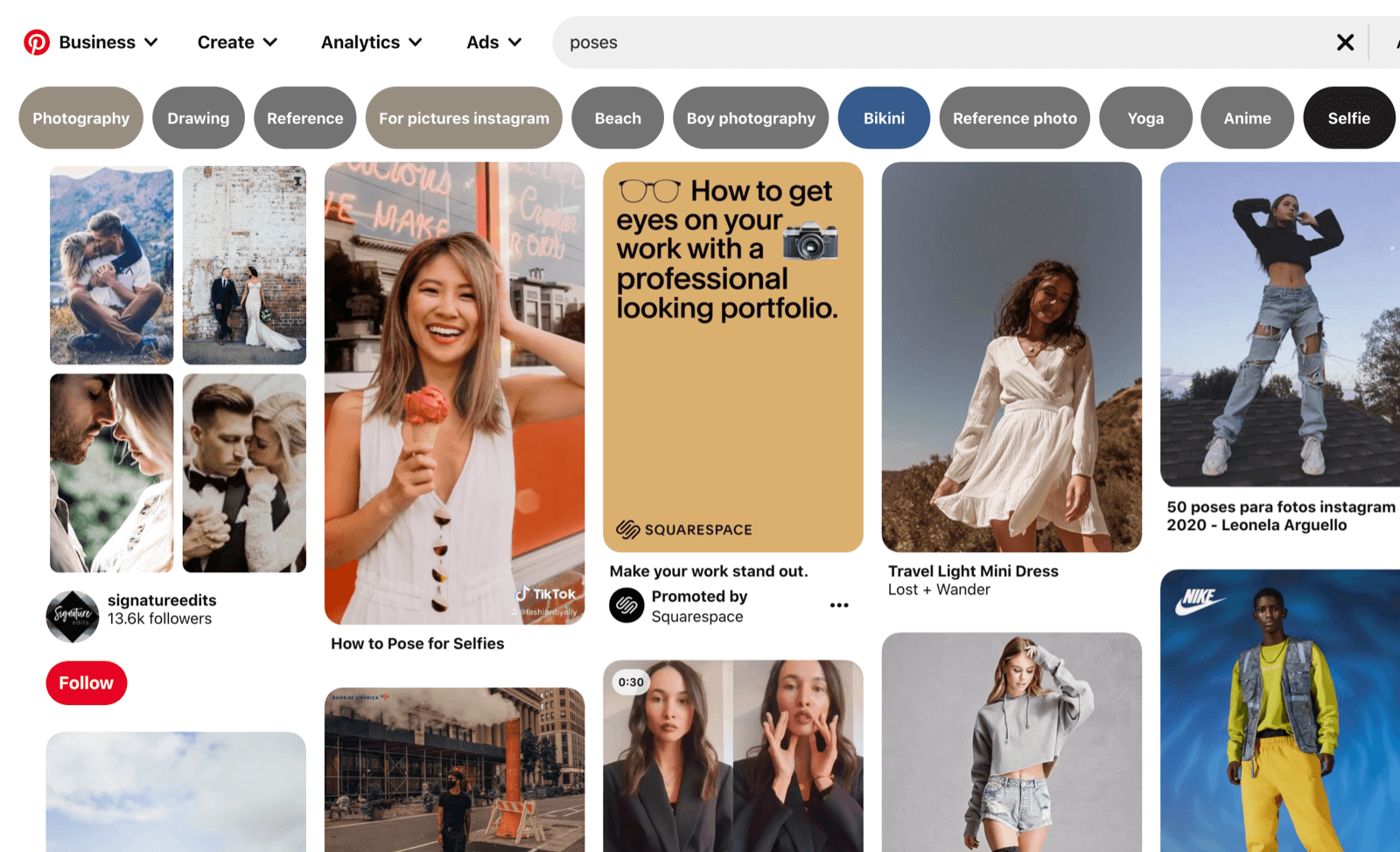 pinterest search for poses