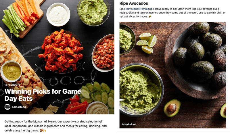 tie products to theme via instagram guide 800