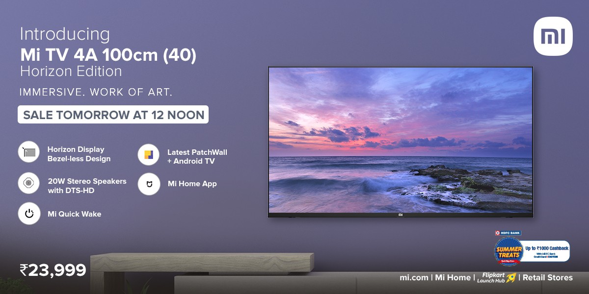 تلویزیون اندرویدی Mi TV 4A 40 Horizon Edition شیائومی وارد بازار شد