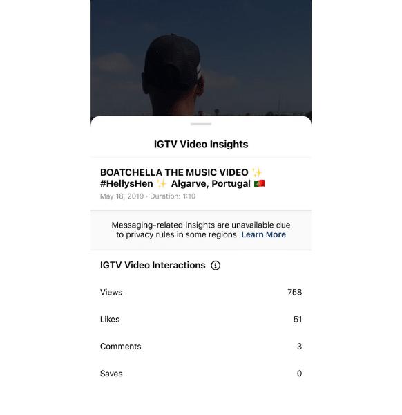 نمایش آمار و اطلاعات ویدیو