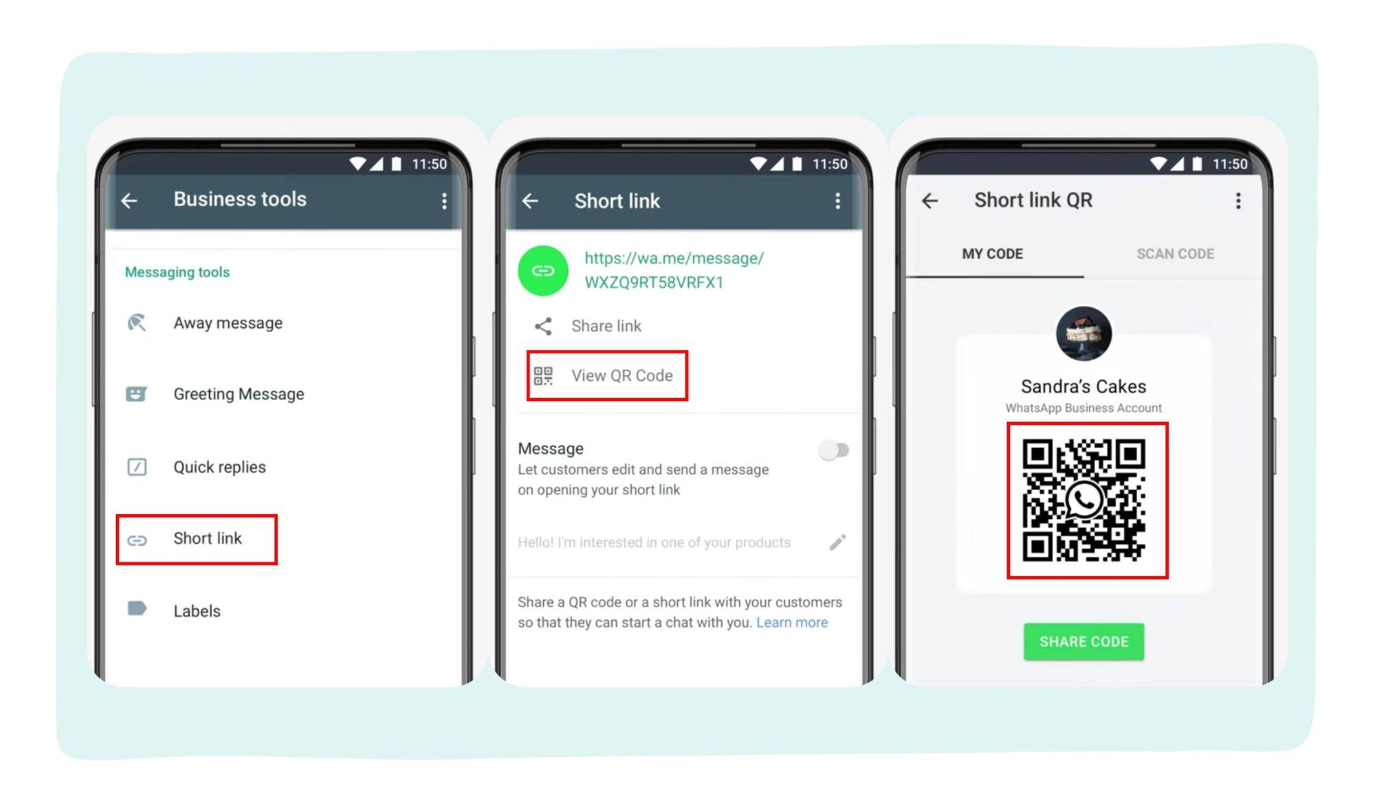 کدهای QR قابل اسکن برای حسابهای بیزنسی واتساپ