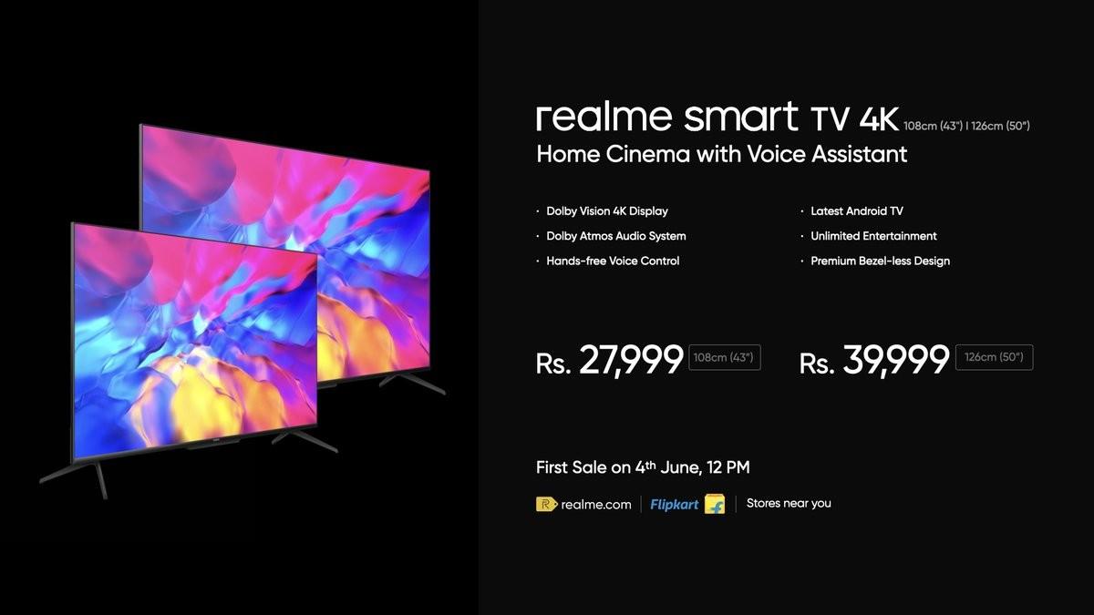 گوشی ریلمی 7 ایکس مکس فایوجی به همراه Smart TV 4K این شرکت معرفی شد