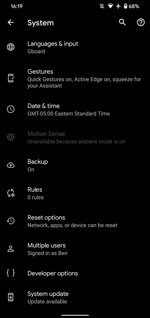01a Android System Settings 2