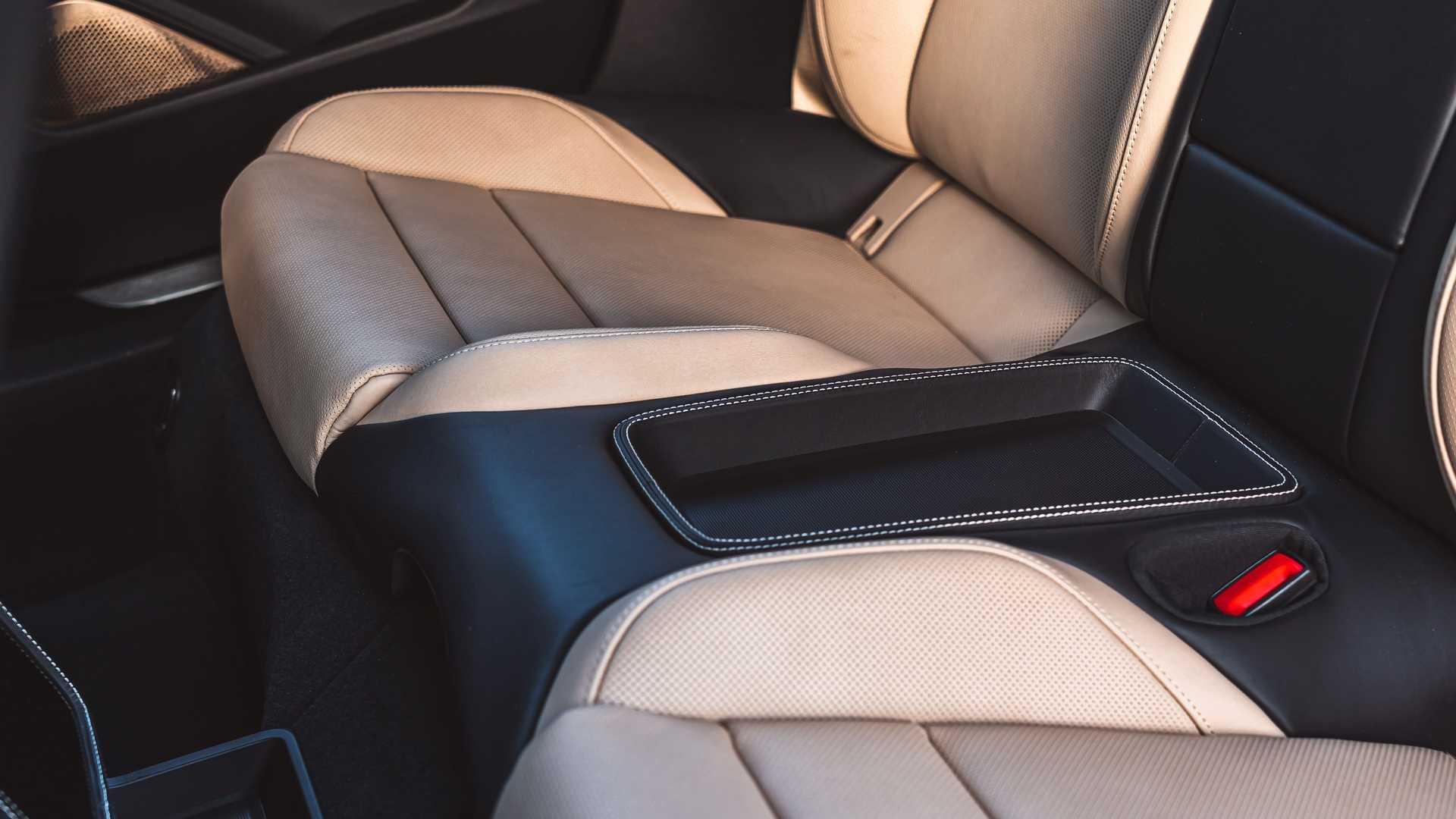 2021 porsche taycan turbo cross turismo interior rear seat details