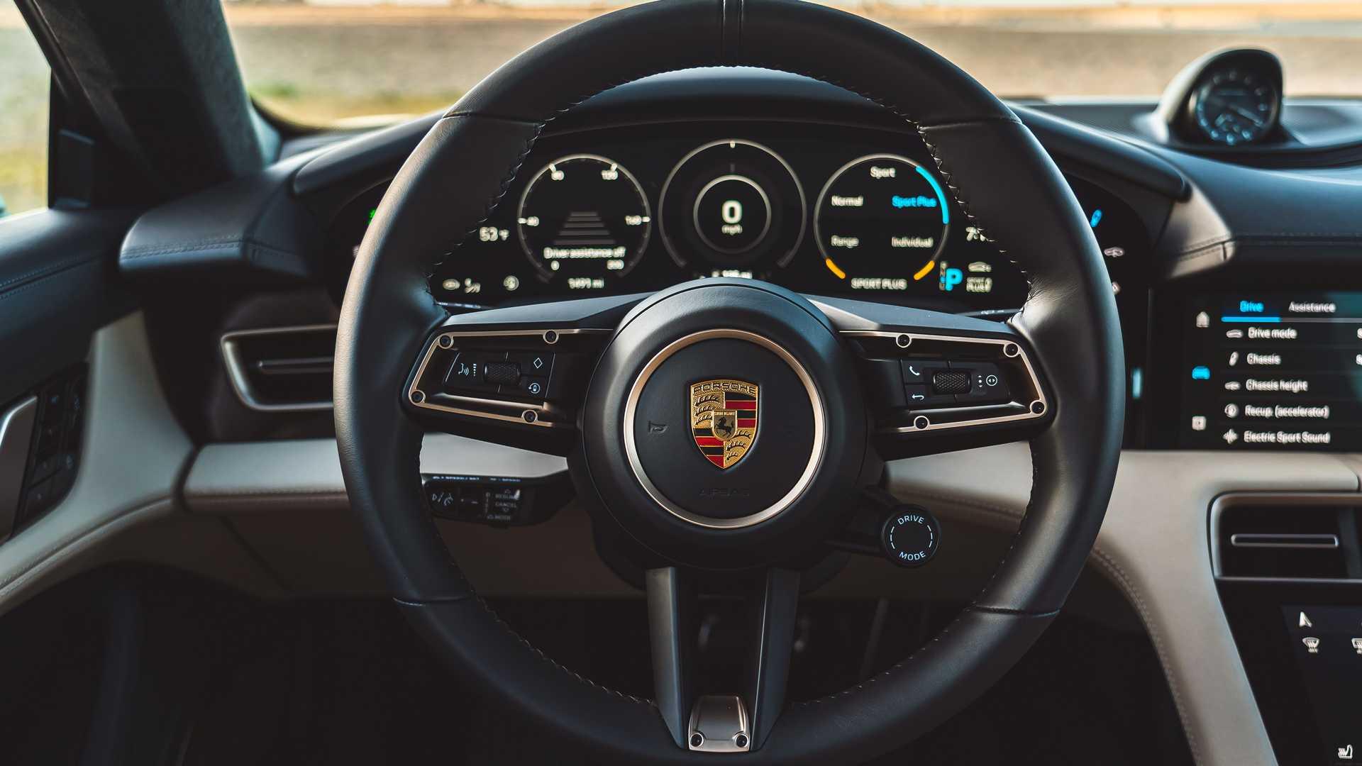 2021 porsche taycan turbo cross turismo interior steering wheel