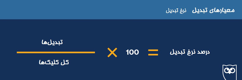 فرمول نرخ تبدیل