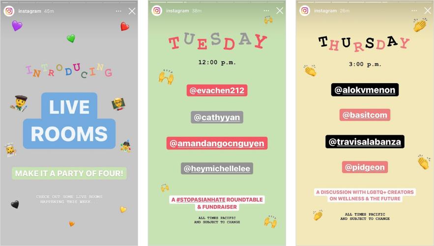 Instagram Live Rooms example 4