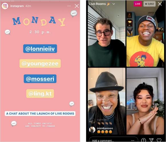 Instagram Live Rooms example 5