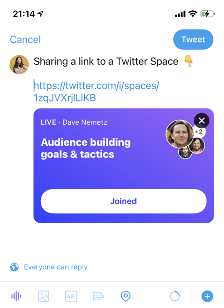 Twitter Spaces 6