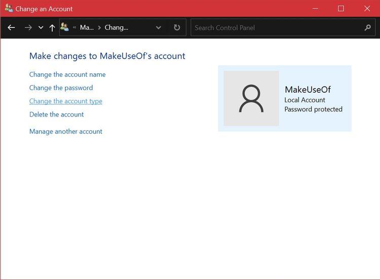 تغییر حساب کاربری در ویندوز 10