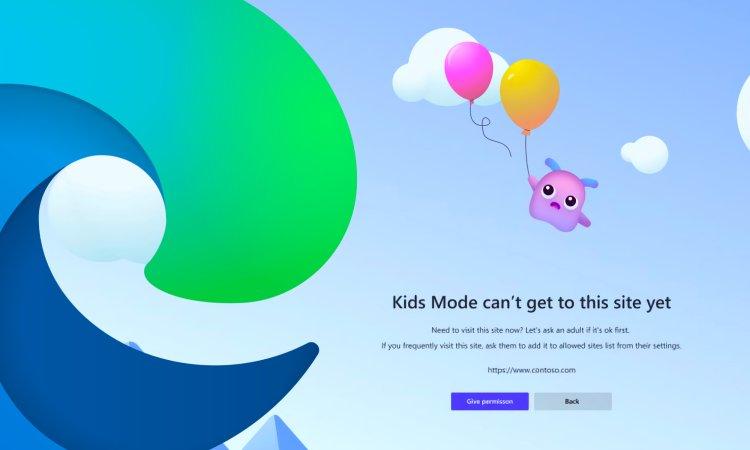 تنظیمات مایکروسافت اج برای کودکان