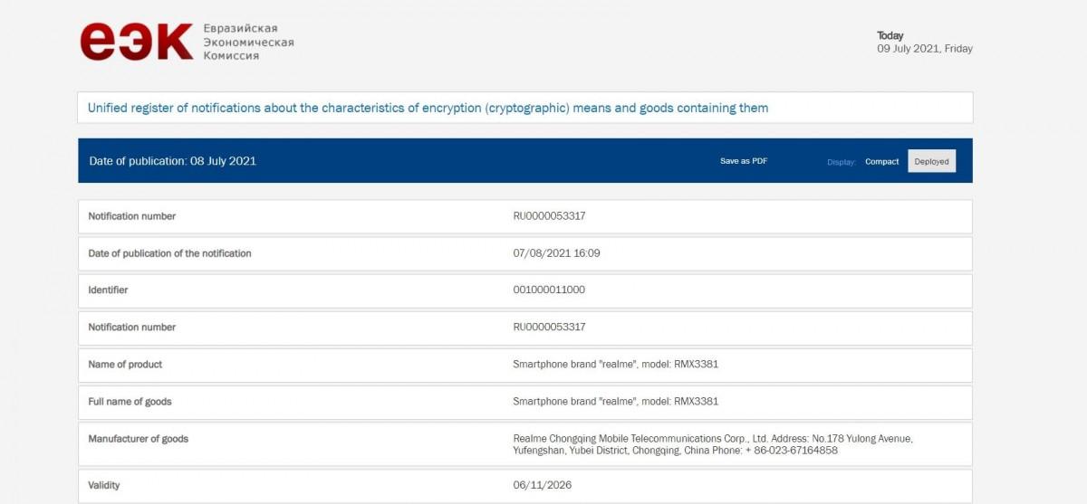 گوشی جدید ریلمی 9 ایکس مجوز چندین سازمان را به دست آورد