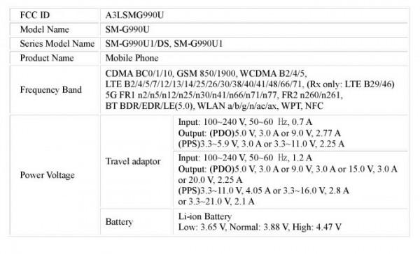 گوشی گلکسی اس 21 اف ای سامسونگ مورد تایید سازمان FCC قرار گرفت