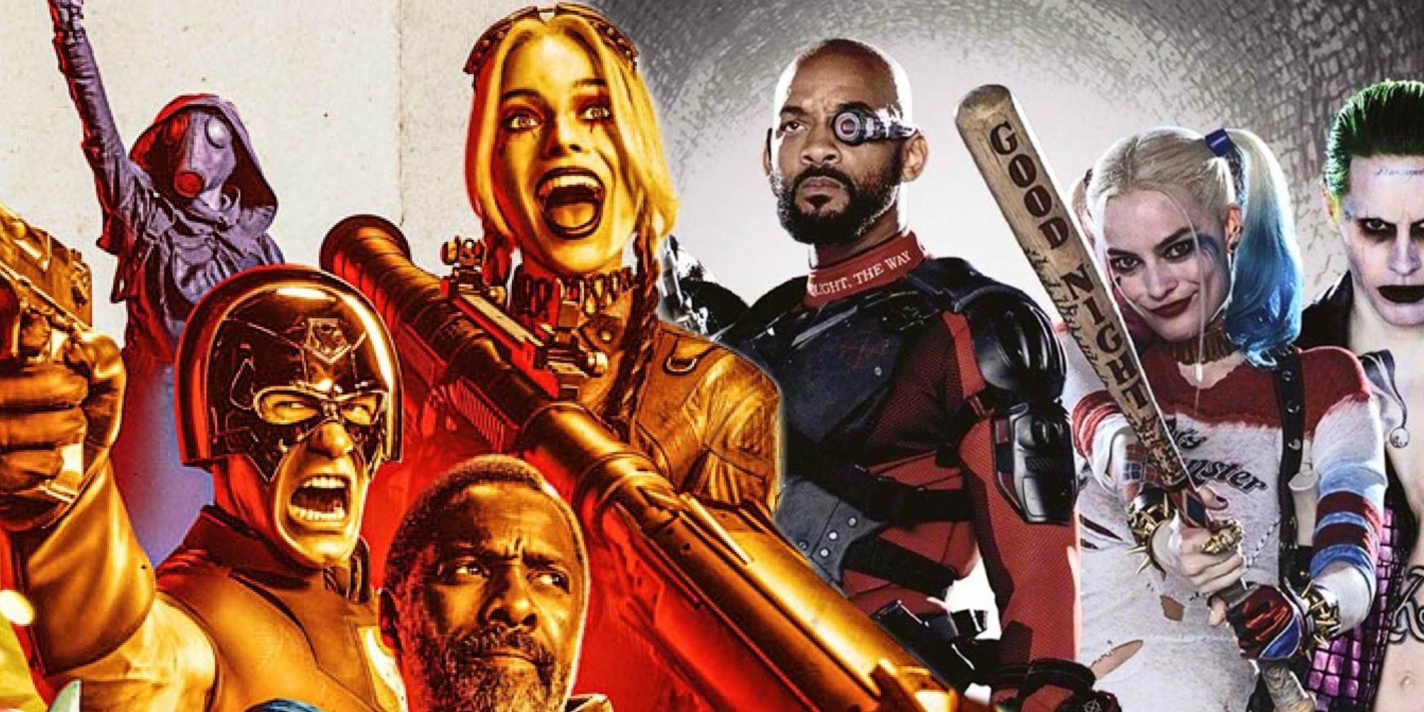 The Suicide Squad 2021 and 2016