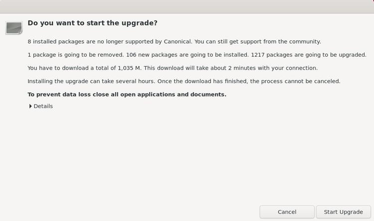 آپگرید از اوبونتو 20.04 به اوبونتو 20.10
