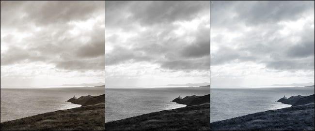 عکس عادی و سیاه و سفید